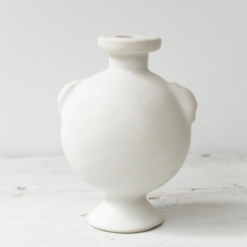 Charlotte McLeish Large Aryballos vase in white 24