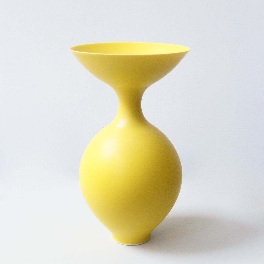 Anna Silverton Porcelain Jar with soft matt yellow glaze 2