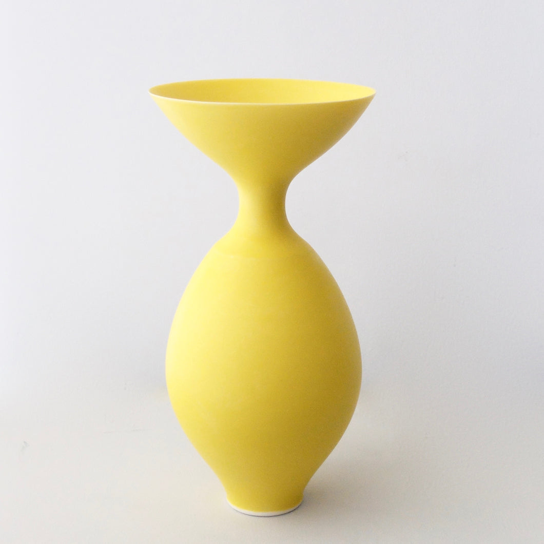 Anna Silverton Porcelain Jar with soft matt yellow glaze 1