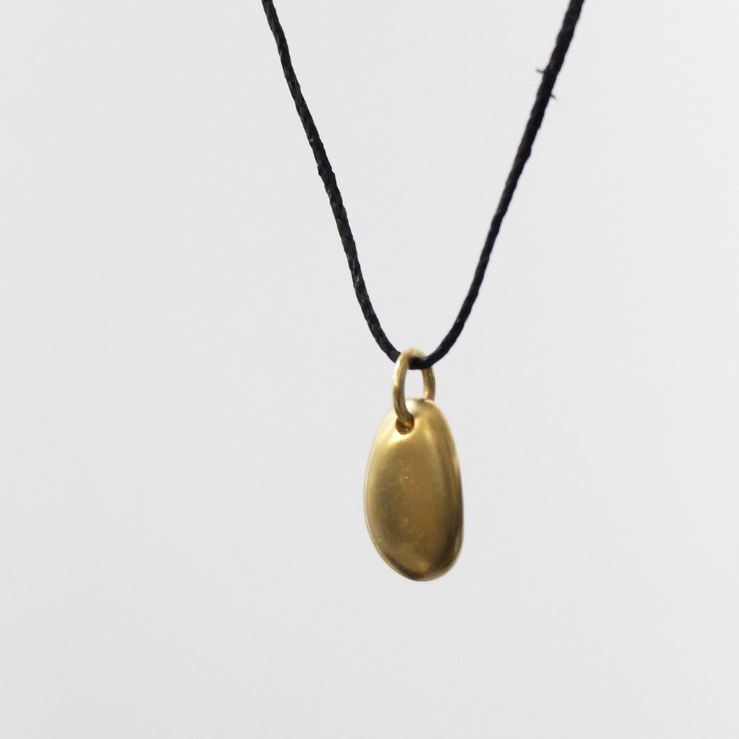 Marina Spyropoulos MSP7 18k yellow gold pebble on black cord