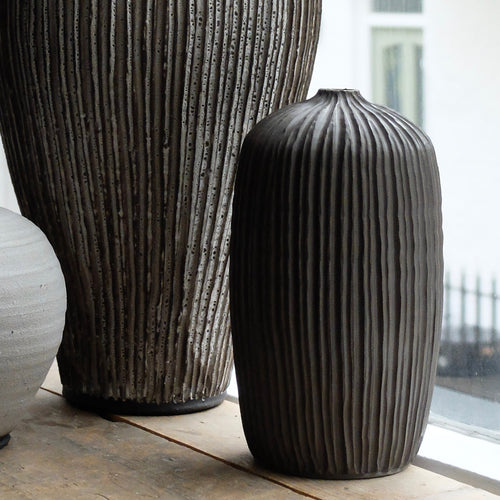 Louise Egedal Grey Silk Vase  no. 035