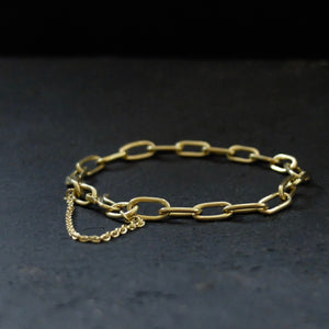 Marina Spyropoulos MSP1 Yellow Gold Hand Forged Chain Bracelet