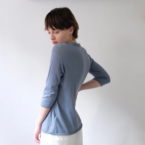 A.b Apuntob cotton cashmere jumper with open collar