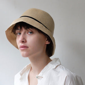 Mature ha. WP paper braid short hat - Natural