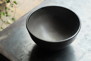 Sofie Berg Stoneware Tea Bowls with Black Glaze