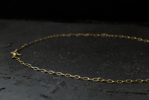 Marina Spyropoulos 18K yellow gold hand made chain necklace
