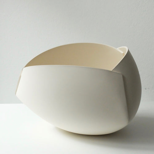 Ann Van Hoey White Folded Bowl 45