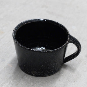 Jack Doherty Soda Fired Stoneware Small Shallow Cups (DARK INTERIOR)