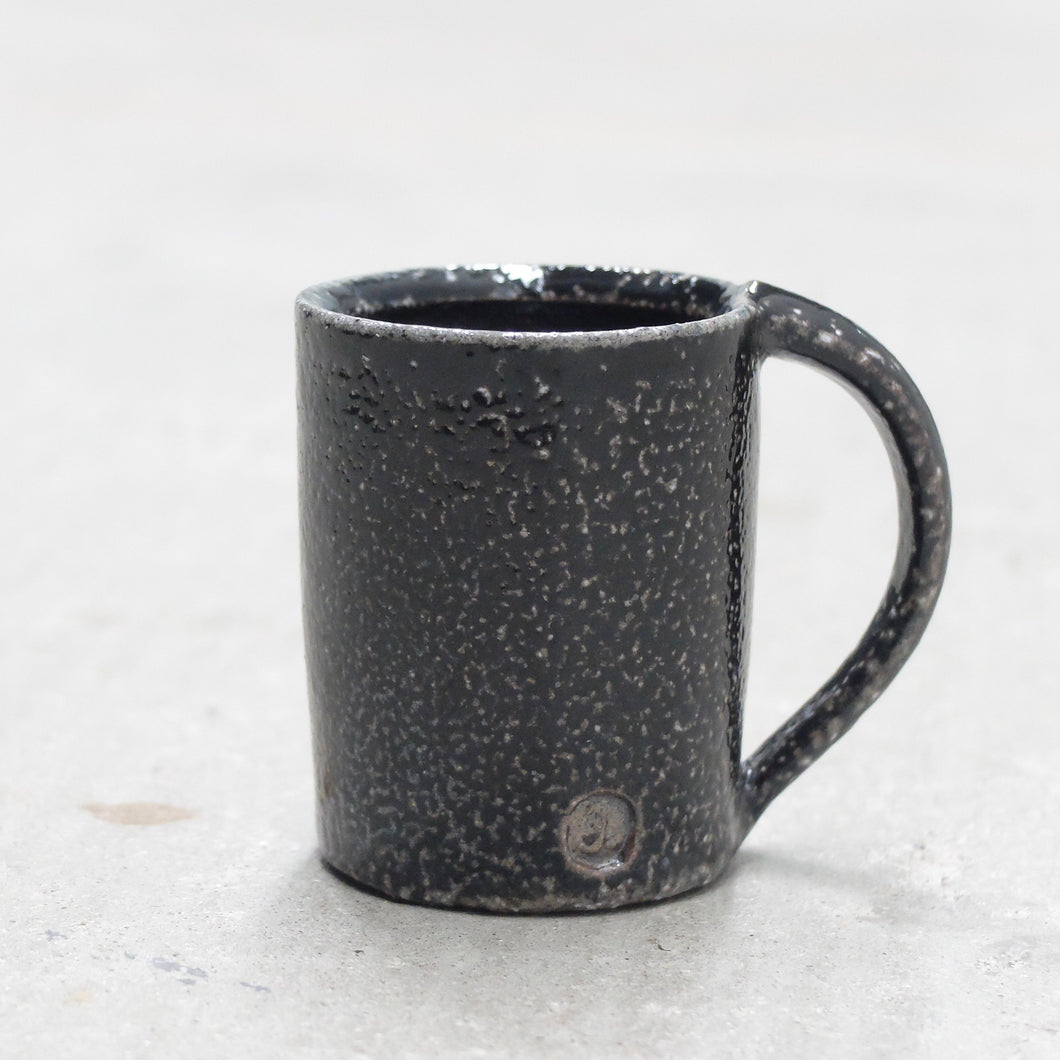 Jack Doherty Soda Fired Stoneware Tall Espresso Cups (DARK INTERIOR)