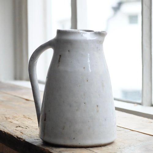 Nicola Tassie Stoneware with added ash jug in Pearl white glaze