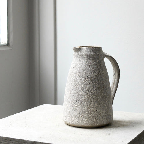 Nicola Tassie Stoneware with added ash jug with a painted white slip exterior