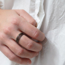 5 Octobre Bague Trio - burnt grey