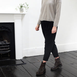 (AW20)  Evam Eva Cotton Trousers in Black