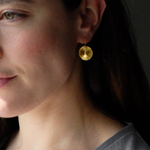 Ram Rijal Gold Disc earrings 39