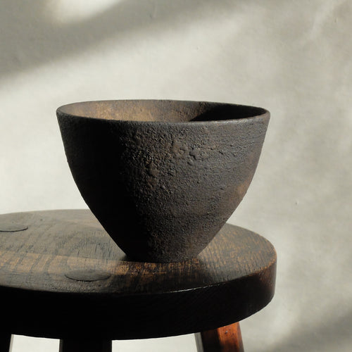 Takahashi McGil Oak bowl finished with sabi urushi 25