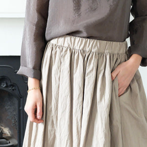 (AW20)  A.B Apuntob Full Skirt in Sand