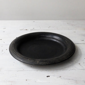 Kenta Anzai Black Urushi Plate Small