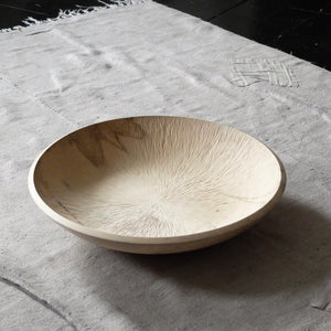 Takahashi McGil turned and hand carved Sycamore bowl 16
