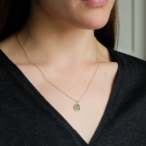 Marina Spyropoulos MS13 Rose Cut Aventurine on 18K chain