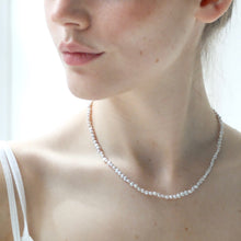 Kerry Seaton Grey Pearl and Silver clasp necklace