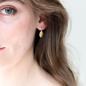 Kerry Seaton Yellow Gold Pumpkin Earrings