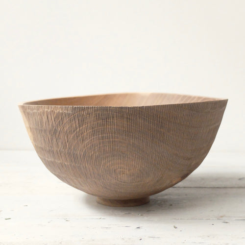 Takahashi McGil Turned and hand carved Elm Bowl 7
