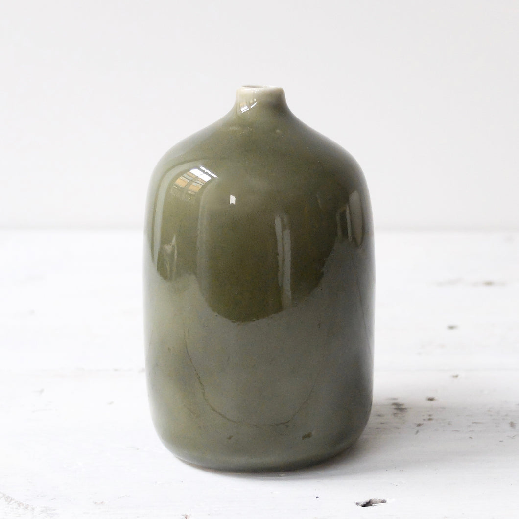 (SE) Jatta Lavi Tall Vase Glazed Green