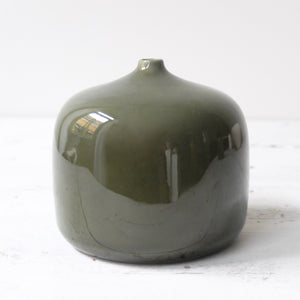 Jatta Lavi Large Round Vase Glazed Green