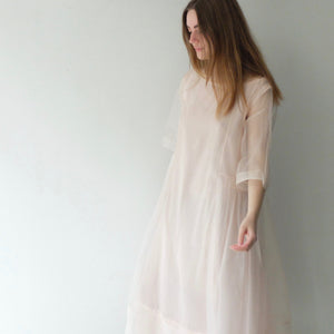 Eka 100% silk organza powerloom dress rose