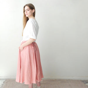 (SS20)  A.B Apuntob Wrap Skirt in Strawberry