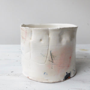 Barry Stedman Textured Thrown Vessel White
