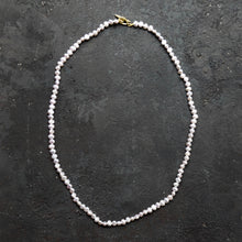 Kerry Seaton Grey Pearl and 18ct Yellow gold clasp necklace