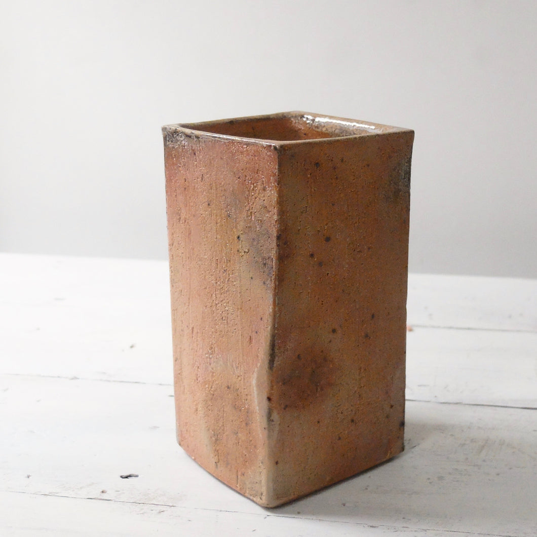 Mats Svensson Orange Square Vase