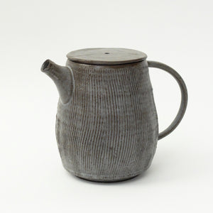 Hannah Blackall Smith Medium Stone Grey Fluted Teapot 11