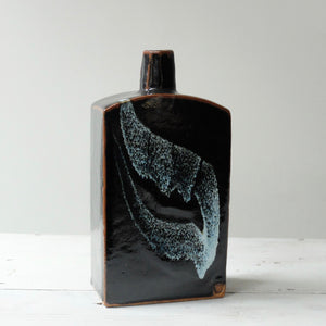 Peter Swanson Tenmoku Glazed Slab Bottle