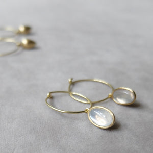 Kerry Seaton White light moonstone earrings