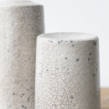 Jennifer Morris White Crackle Raku Cylinder 72