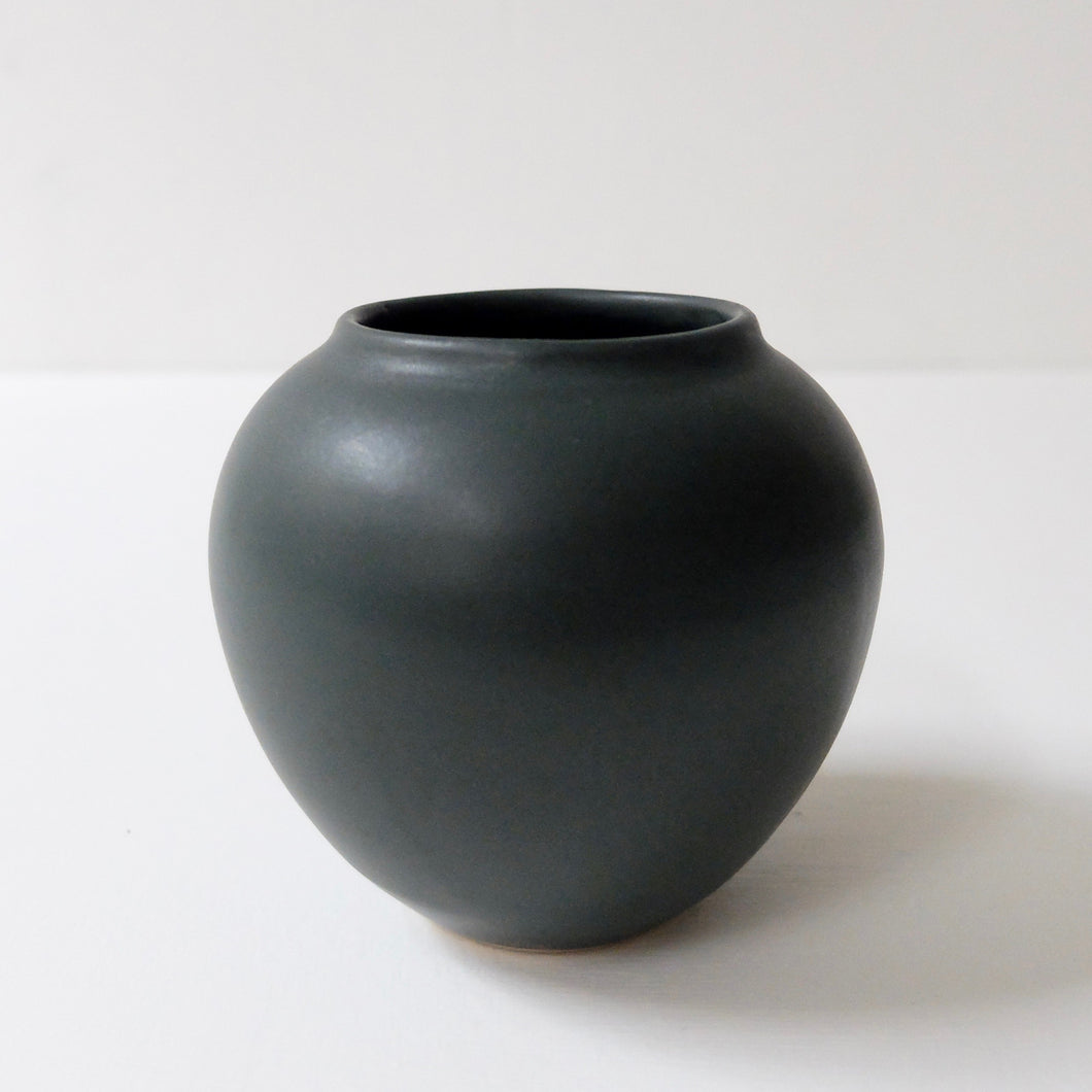 Christiane Perrochon Flower Vase - Matt Forest Green