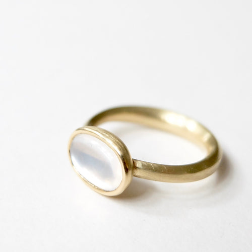 Kerry Seaton White light moonstone ring
