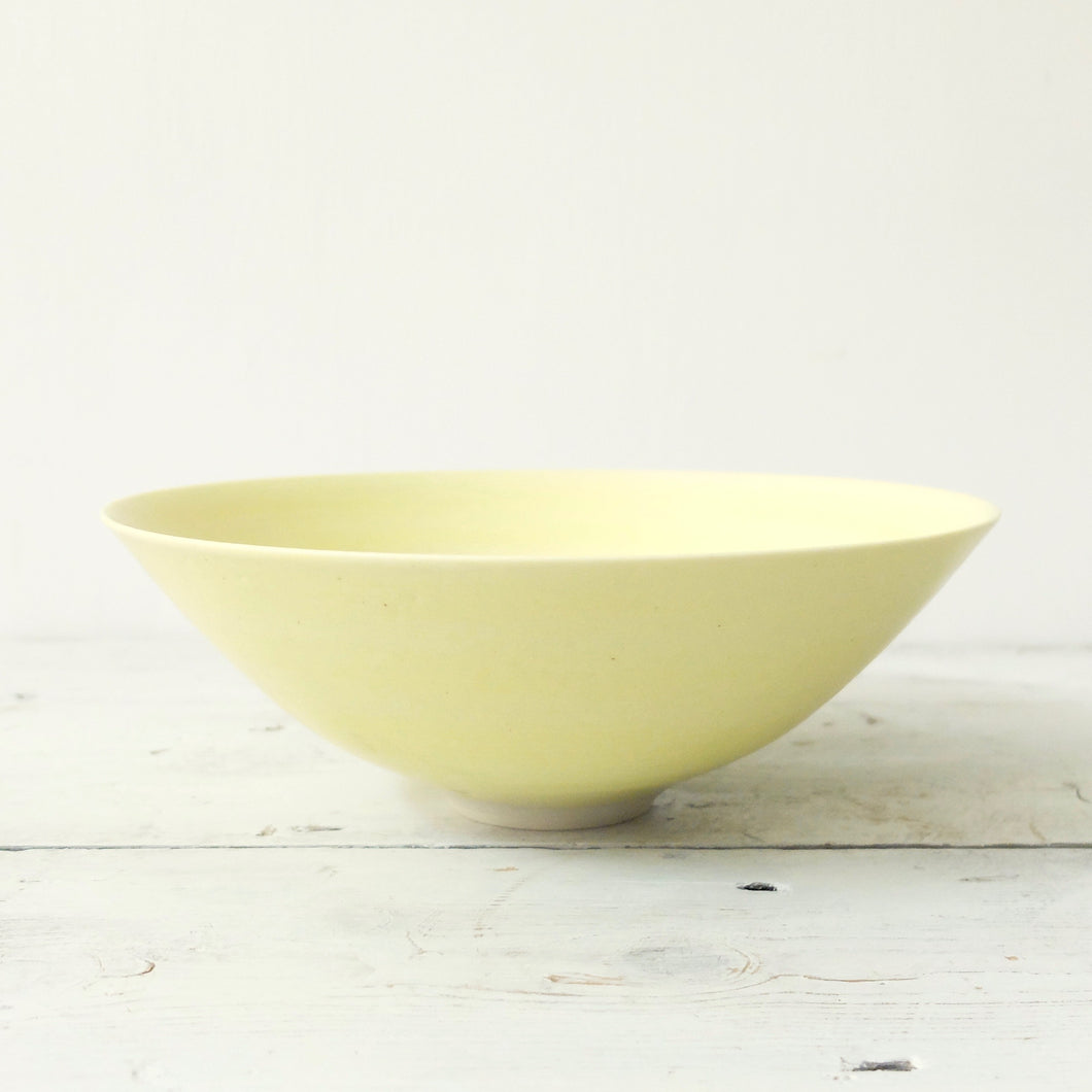 Peter Wills Yellow Porcelain Bowl 17