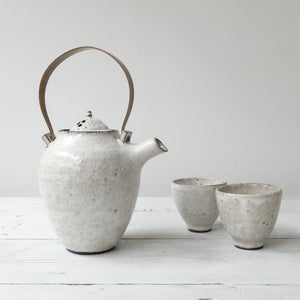 Kin Leung White Grog Stoneware Tea Set