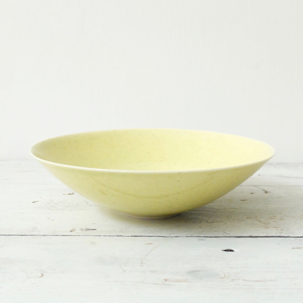 Peter Wills Yellow Porcelain Bowl 12