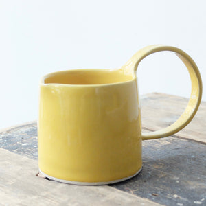 Jennifer Morris yellow stoneware jug in yellow 111