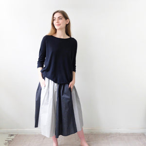 (SS20)  A.B Apuntob Skirt Butter Blue