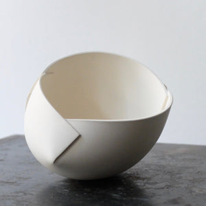 Ann Van Hoey White Folded Bowl 37