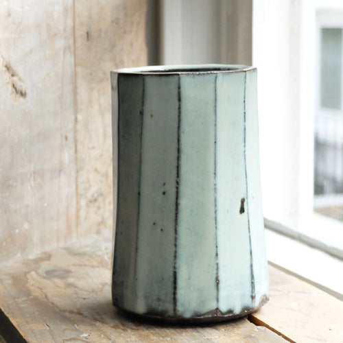 Mats Svensson Blue Faceted Vase
