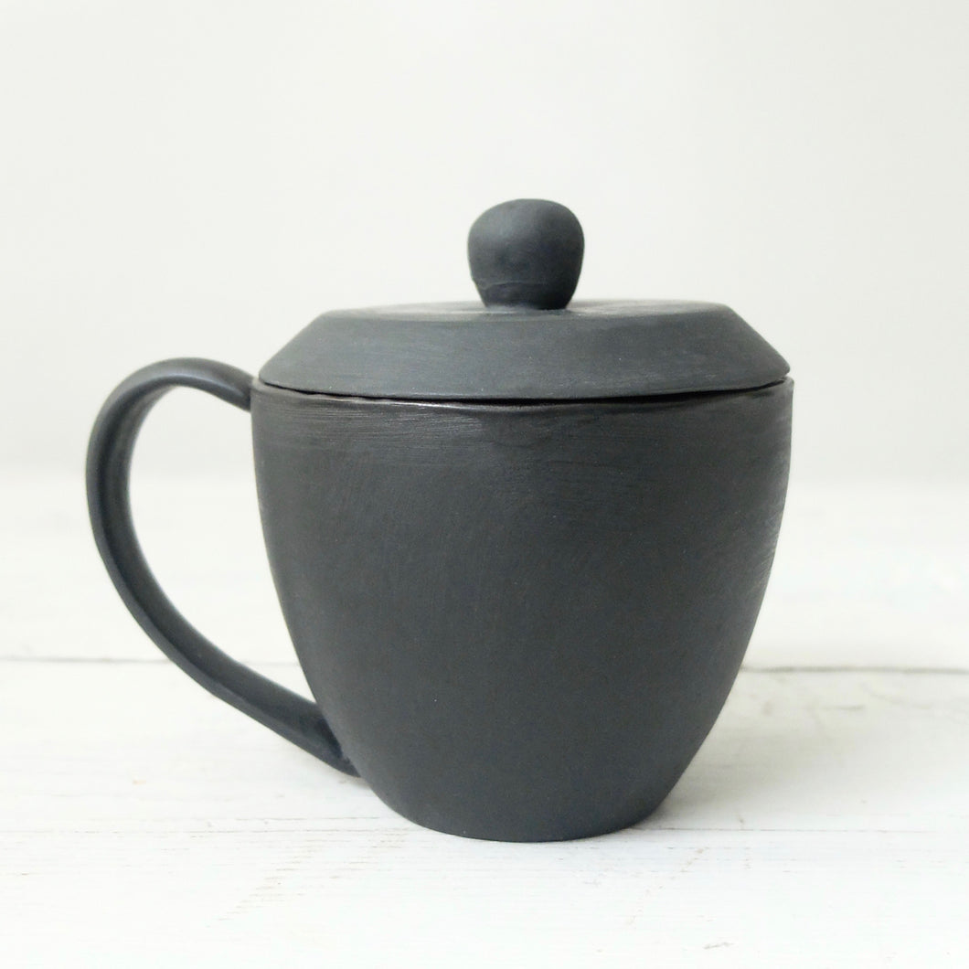 Mitsuka Togo Utsu Black Cup with Lid
