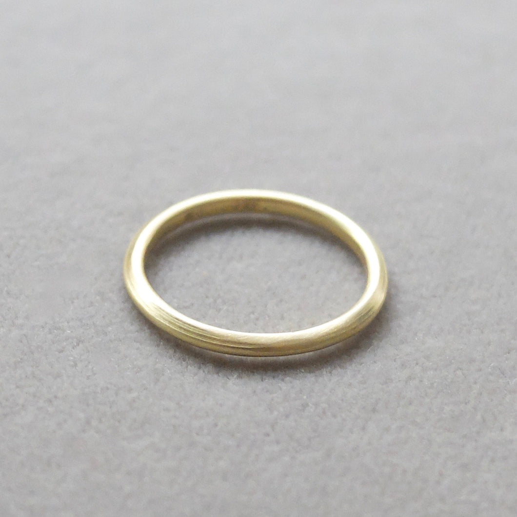 Kerry Seaton 18ct Yellow Gold fine plain thin band