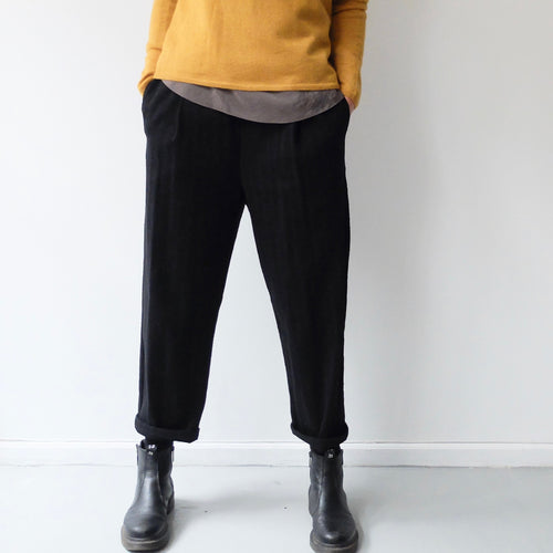 (AW20)  A.B Apuntob Trousers in Plain Black