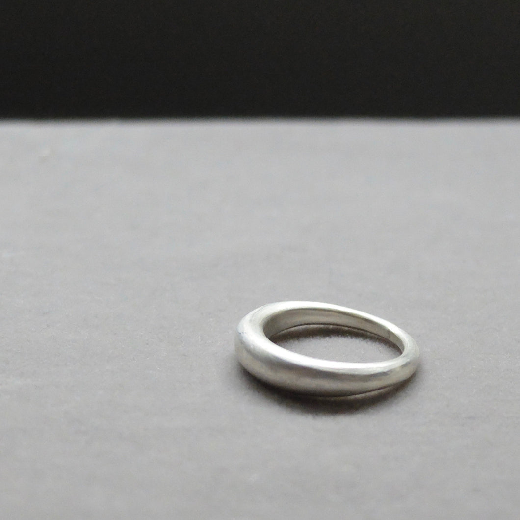 Kerry Seaton Forged thinner silver stacking ring